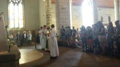 Lundi soir, messe à Trégunc avec les paroissiens et les soeurs de la communauté les Filles du Saint Esprit.